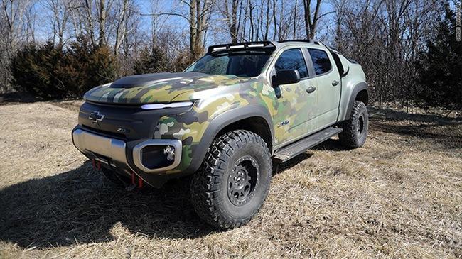 Chevrolet Colorado ZH2 Chiếc Xe Quân Sự Cực Kỳ Êm Ái và Mạnh Mẽ