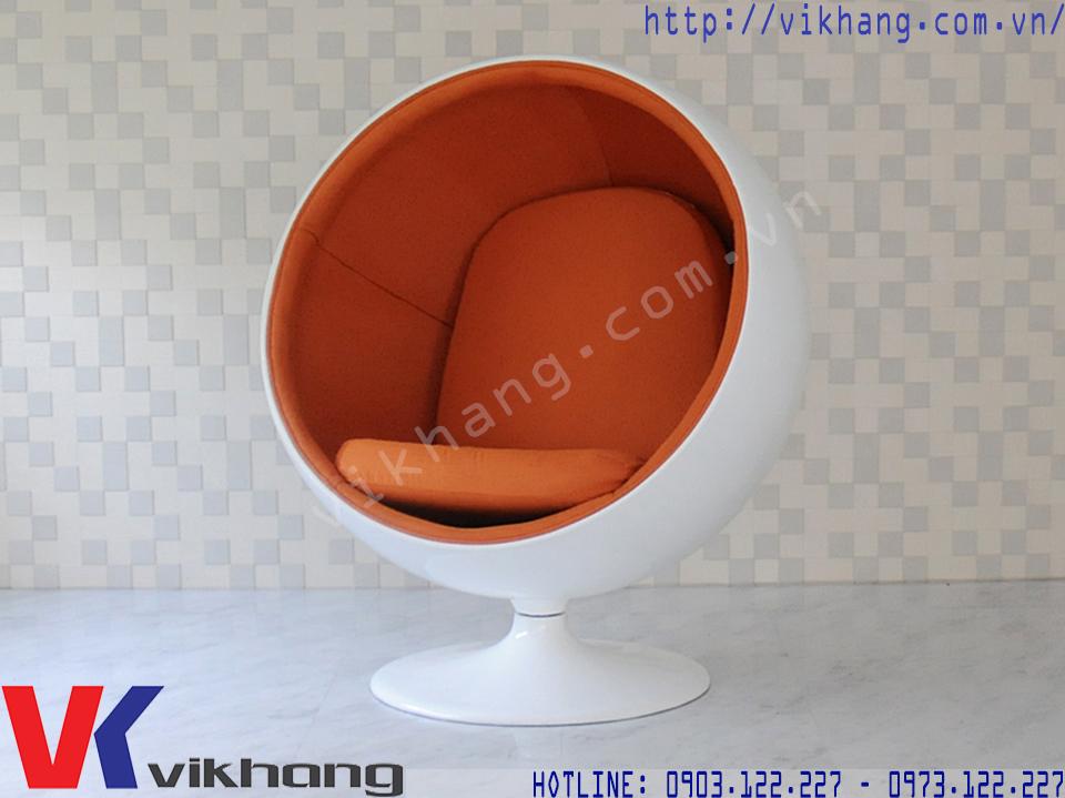 Ghế Thư Giãn Ball Chair Màu Trắng Cam