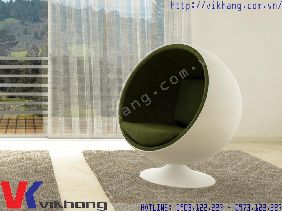 Ghế Thư Giãn Ball Chair Màu Trắng Xanh