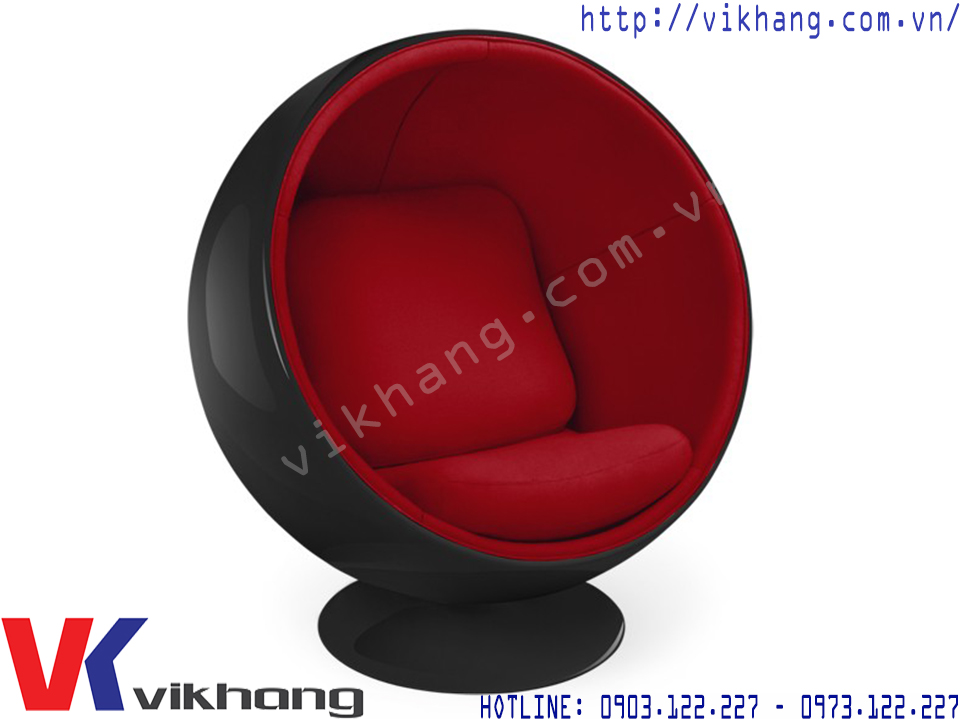 Ghế Thư Giãn Ball Chair Màu Đen Đỏ