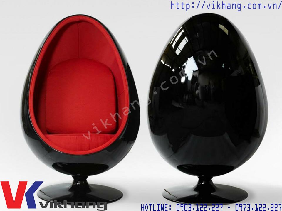Ghế Thư Giãn Oval Chair Màu Đen Đỏ